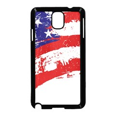 Red White Blue Star Flag Samsung Galaxy Note 3 Neo Hardshell Case (Black)