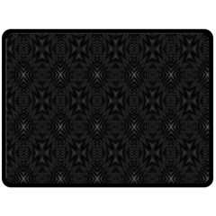 Star Black Fleece Blanket (large)