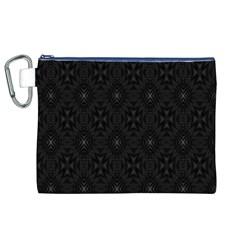 Star Black Canvas Cosmetic Bag (XL)