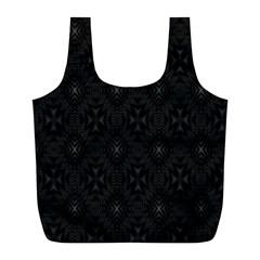 Star Black Full Print Recycle Bags (L)