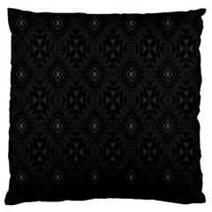Star Black Large Flano Cushion Case (Two Sides)