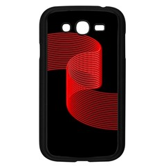 Tape Strip Red Black Amoled Wave Waves Chevron Samsung Galaxy Grand DUOS I9082 Case (Black)