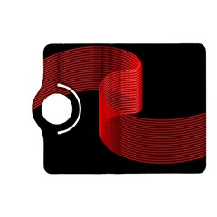Tape Strip Red Black Amoled Wave Waves Chevron Kindle Fire HD (2013) Flip 360 Case