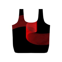Tape Strip Red Black Amoled Wave Waves Chevron Full Print Recycle Bags (S)