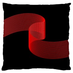 Tape Strip Red Black Amoled Wave Waves Chevron Standard Flano Cushion Case (Two Sides)