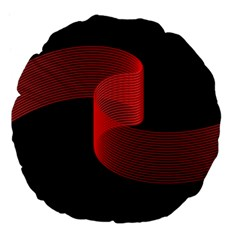 Tape Strip Red Black Amoled Wave Waves Chevron Large 18  Premium Flano Round Cushions