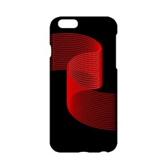 Tape Strip Red Black Amoled Wave Waves Chevron Apple iPhone 6/6S Hardshell Case