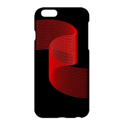 Tape Strip Red Black Amoled Wave Waves Chevron Apple iPhone 6 Plus/6S Plus Hardshell Case