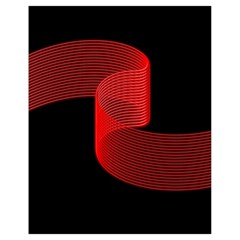 Tape Strip Red Black Amoled Wave Waves Chevron Drawstring Bag (Small)