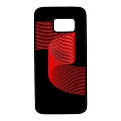 Tape Strip Red Black Amoled Wave Waves Chevron Samsung Galaxy S7 Black Seamless Case