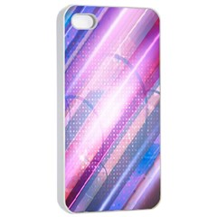 Widescreen Polka Star Space Polkadot Line Light Chevron Waves Circle Apple iPhone 4/4s Seamless Case (White)