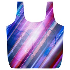 Widescreen Polka Star Space Polkadot Line Light Chevron Waves Circle Full Print Recycle Bags (L)
