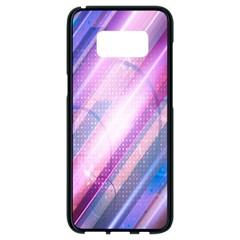 Widescreen Polka Star Space Polkadot Line Light Chevron Waves Circle Samsung Galaxy S8 Black Seamless Case
