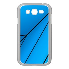 Technical Line Blue Black Samsung Galaxy Grand DUOS I9082 Case (White)