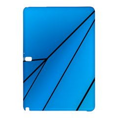 Technical Line Blue Black Samsung Galaxy Tab Pro 10.1 Hardshell Case