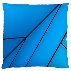 Technical Line Blue Black Standard Flano Cushion Case (Two Sides)