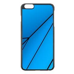 Technical Line Blue Black Apple iPhone 6 Plus/6S Plus Black Enamel Case