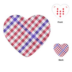 Webbing Wicker Art Red Bluw White Playing Cards (heart)