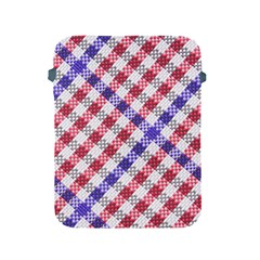 Webbing Wicker Art Red Bluw White Apple iPad 2/3/4 Protective Soft Cases