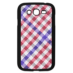 Webbing Wicker Art Red Bluw White Samsung Galaxy Grand DUOS I9082 Case (Black)