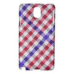 Webbing Wicker Art Red Bluw White Samsung Galaxy Note 3 N9005 Hardshell Case