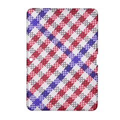Webbing Wicker Art Red Bluw White Samsung Galaxy Tab 2 (10.1 ) P5100 Hardshell Case
