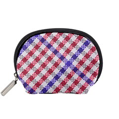 Webbing Wicker Art Red Bluw White Accessory Pouches (Small)