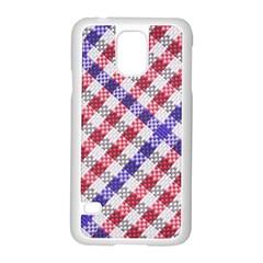 Webbing Wicker Art Red Bluw White Samsung Galaxy S5 Case (white)