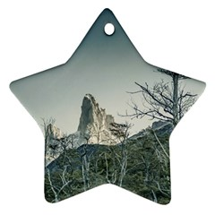 Fitz Roy Mountain, El Chalten Patagonia   Argentina Ornament (Star)