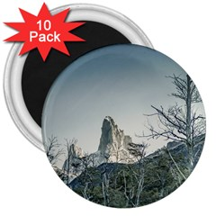 Fitz Roy Mountain, El Chalten Patagonia   Argentina 3  Magnets (10 pack)