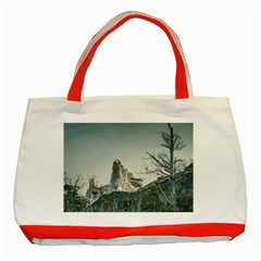 Fitz Roy Mountain, El Chalten Patagonia   Argentina Classic Tote Bag (Red)