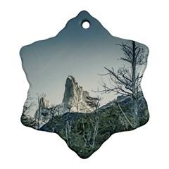 Fitz Roy Mountain, El Chalten Patagonia   Argentina Snowflake Ornament (Two Sides)