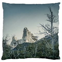 Fitz Roy Mountain, El Chalten Patagonia   Argentina Large Cushion Case (One Side)