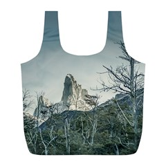 Fitz Roy Mountain, El Chalten Patagonia   Argentina Full Print Recycle Bags (L)