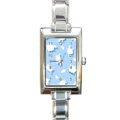 Vector Sheep Clouds Background Rectangle Italian Charm Watch
