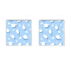 Vector Sheep Clouds Background Cufflinks (square)