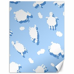 Vector Sheep Clouds Background Canvas 18  X 24