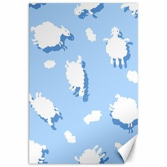 Vector Sheep Clouds Background Canvas 20  x 30