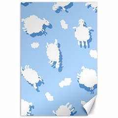 Vector Sheep Clouds Background Canvas 24  X 36