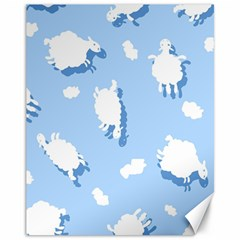 Vector Sheep Clouds Background Canvas 11  x 14