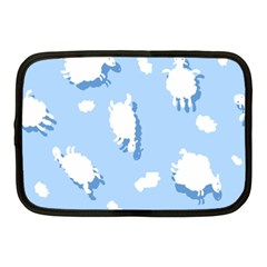 Vector Sheep Clouds Background Netbook Case (Medium)