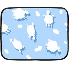 Vector Sheep Clouds Background Fleece Blanket (mini)