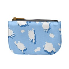 Vector Sheep Clouds Background Mini Coin Purses