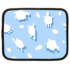 Vector Sheep Clouds Background Netbook Case (xl)