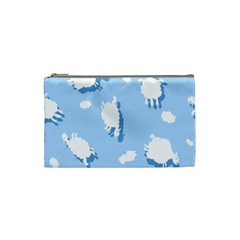 Vector Sheep Clouds Background Cosmetic Bag (Small)