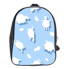 Vector Sheep Clouds Background School Bags(large)