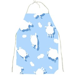 Vector Sheep Clouds Background Full Print Aprons