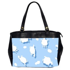 Vector Sheep Clouds Background Office Handbags (2 Sides)