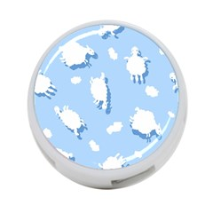 Vector Sheep Clouds Background 4 Port Usb Hub (two Sides)