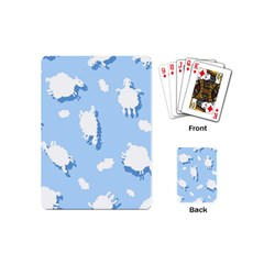Vector Sheep Clouds Background Playing Cards (Mini)